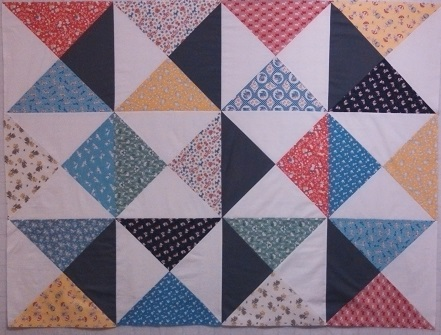 Top all pieced, on design wall